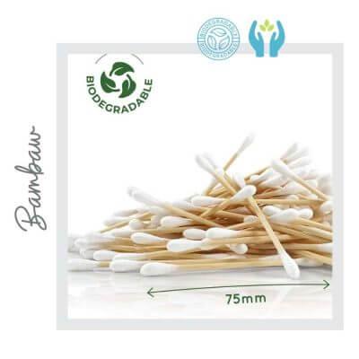 Bastoncillos para Oídos de Bambú