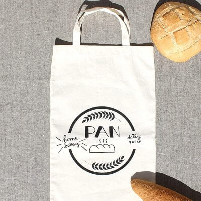 Bolsa del pan algodón