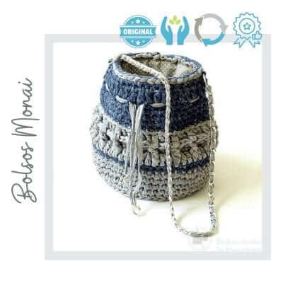 Bolso Monai reciclado azul