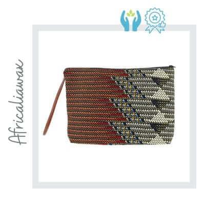 Bolso de mano hecho a mano con tela africana