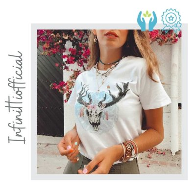 Camiseta Bufalo Verano Hecha a Mano