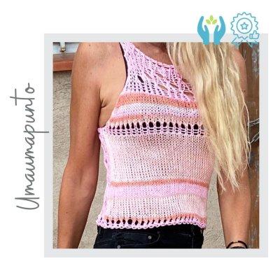 Camiseta verano rosa punto