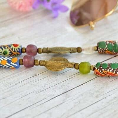 Collar étnico africano artesanal 2