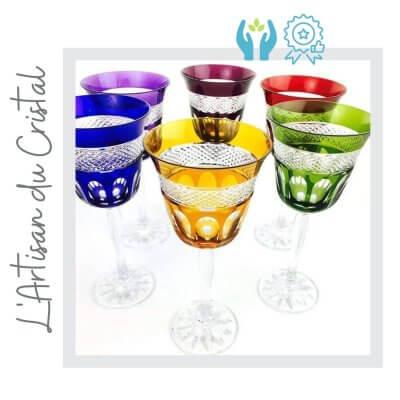 Copas vino de colores