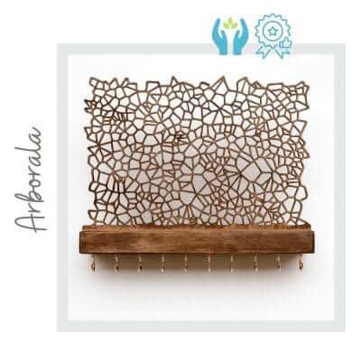 Joyero de pared artesanal de madera