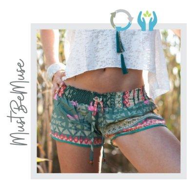 Mini Shorts Verano Estampados Hecho a Mano