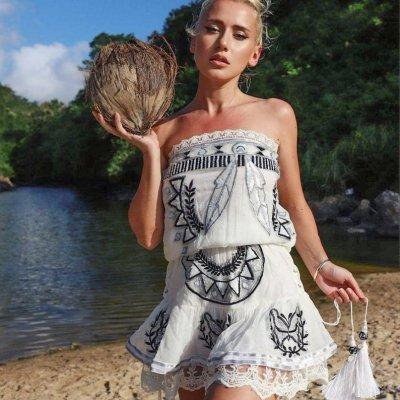 Mini Vestido Marbella bordado