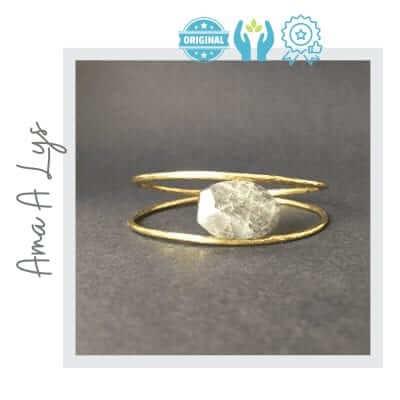 Pulsera artesanal rigida piedra
