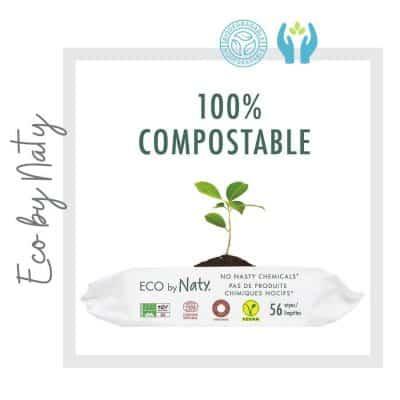 Toallitas sin Fragancia para bebé compostables