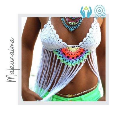 Top Crochet Mandala Hehco a Mano