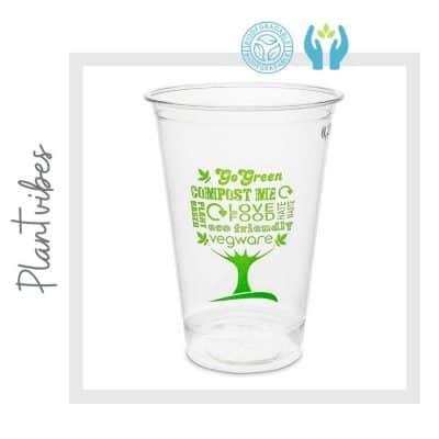 Vaso 100% compostable y Biodegradable