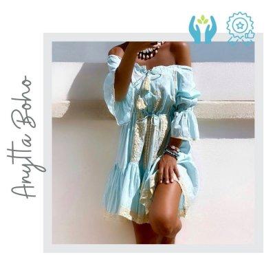 Vestido Turquesa Boho Ibiza