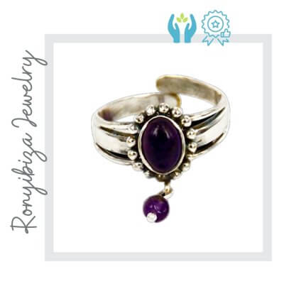 anillo nudillo purpura