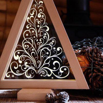 árbol madera iluminado